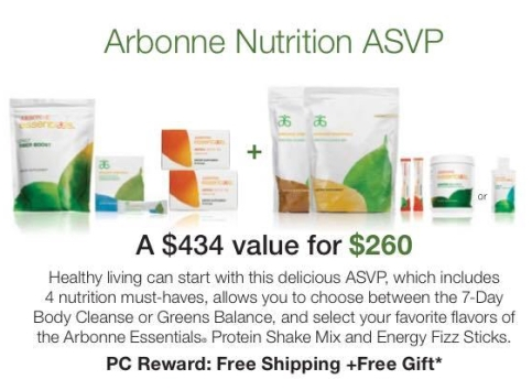 Arbonne Nutrition value pack
