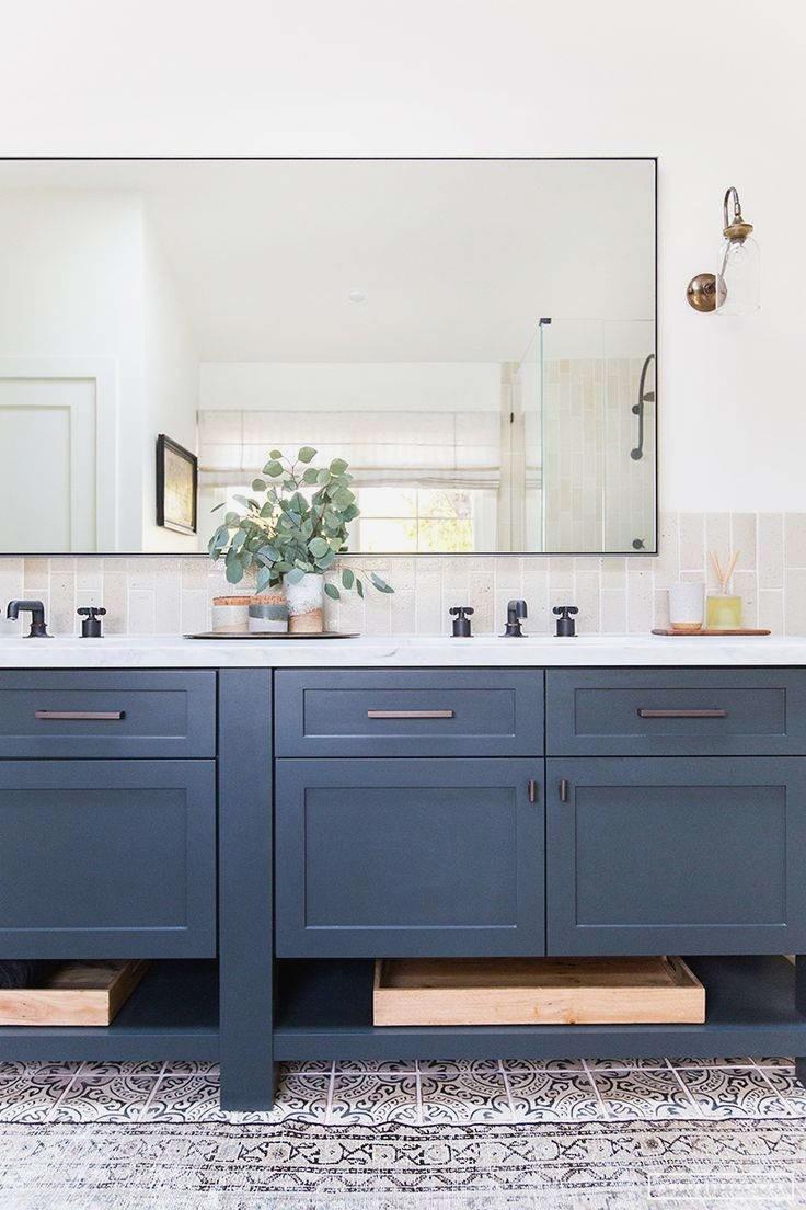 Blue Bathroom Vanity Cabinet Beautiful Navy Bathroom Vanity in dimensions 736 X 1104